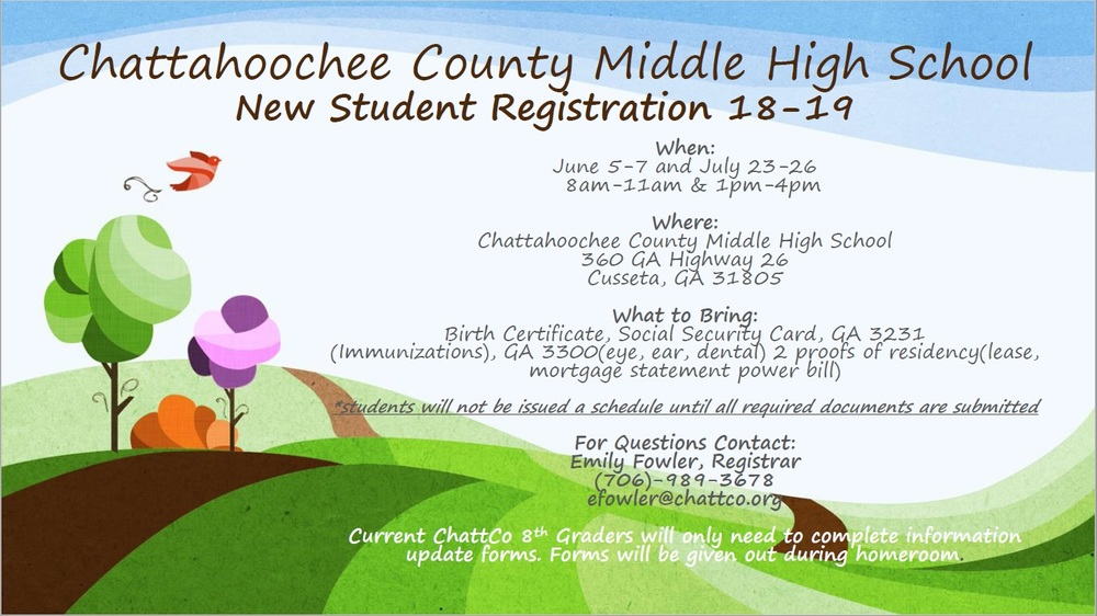 New Student Registration Flyer