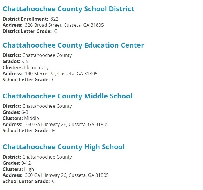 ChattCo GOSA Report Card